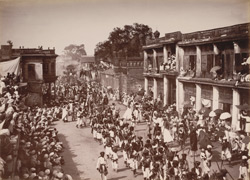 Langar procession of Mohurram, at Hyderabad. (Arabs).